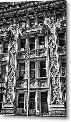 Alwyn Court Building Detail 15 Metal Print by Val Black Russian Tourchin