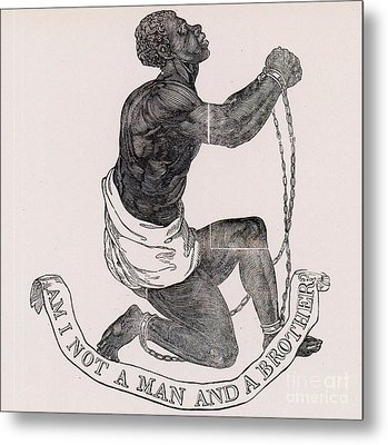 Am I Not A Man And A Brother Metal Print by Photo Researchers