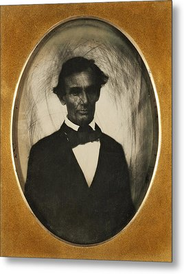 Ambrotype Of Abraham Lincoln, Taken Metal Print by Everett
