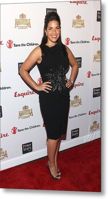 America Ferrera Wearing A Moschino Metal Print by Everett