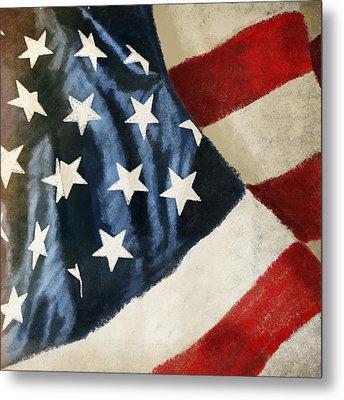 America Flag Metal Print by Setsiri Silapasuwanchai
