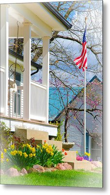 America The Beautiful In Spring Metal Print by Christine Belt