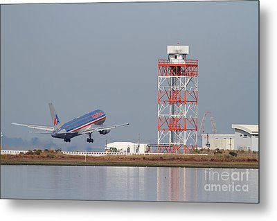 American Airlines Jet Airplane At San Francisco International Airport Sfo . 7d12073 Metal Print by Wingsdomain Art and Photography