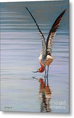 American Avecet Metal Print by Deb LaFogg-Docherty