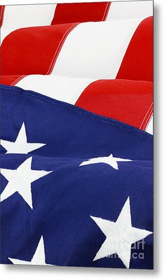 American Flag Metal Print by Stephanie Frey