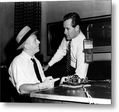 American Radio Commentators Walter Metal Print by Everett
