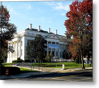 American Red Cross Hq In Washington Metal Print by Feva  Fotos
