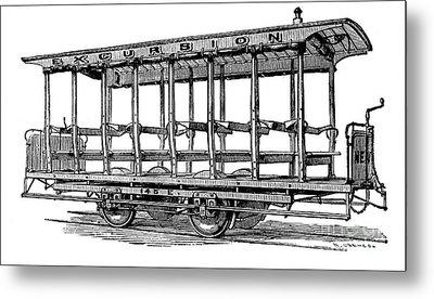 American: Streetcar, 1880s Metal Print by Granger
