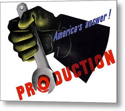 America's Answer -- Production  Metal Print by War Is Hell Store