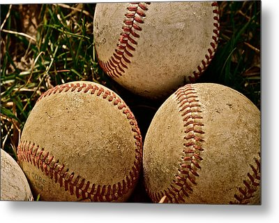 America's Pastime Metal Print by Bill Owen