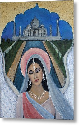 Amishi An Earth Angel Representing A Young Bride On Her Wedding Day Metal Print by The Art With A Heart By Charlotte Phillips