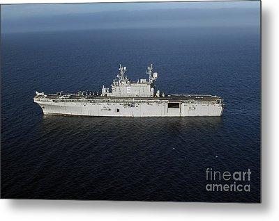 Amphibious Assault Ship Uss Peleliu Metal Print by Stocktrek Images