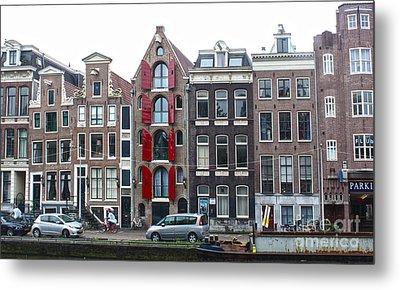 Amsterdam Canal Houses Metal Print by Gregory Dyer