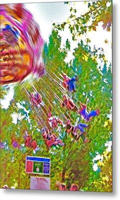 Amusement Park Ride 2 Metal Print by Steve Ohlsen