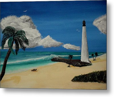 An Afternoon By The Lighthouse Metal Print by Spencer Hudon II