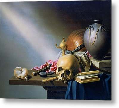 'an Allegory Of The Vanities Of Human Life' By Harmen Steenwych Metal Print by Photos.com