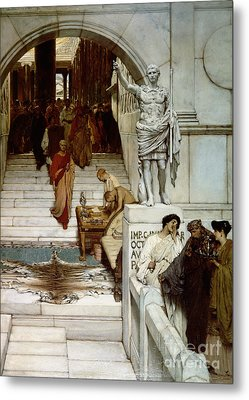 An Audience At Agrippa's Metal Print by Sir Lawrence Alma-Tadema