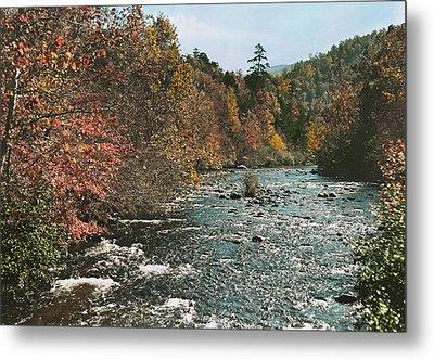 An Autumn Scene Along Little River Metal Print by J. Baylor Roberts