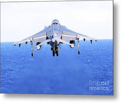 An Av-8b Harrier Jet Launches Metal Print by Stocktrek Images