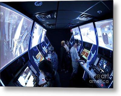 An Interactive Display Room Metal Print by Stocktrek Images