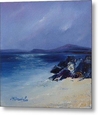 An Iona Beach Metal Print by Margaret Denholm