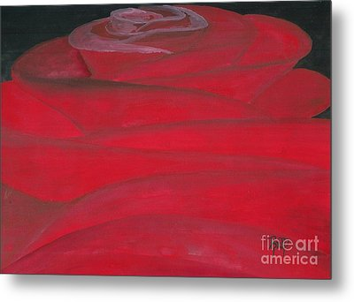 An Odd Rose... Metal Print by Robert Meszaros