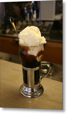 An Old-fashioned Ice Cream Soda Awaits Metal Print by Stephen St. John