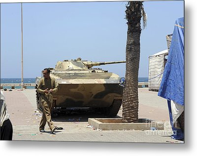 An Old Russian Bmp Armored Personnel Metal Print by Andrew Chittock
