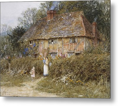 An Old Surrey Cottage Metal Print by Helen Allingham