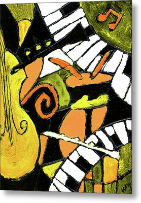 And All That Jazz Orange Metal Print by Wayne Potrafka