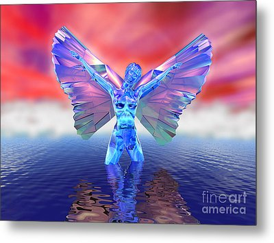 Angel On The Water Metal Print by Ricky Schneider