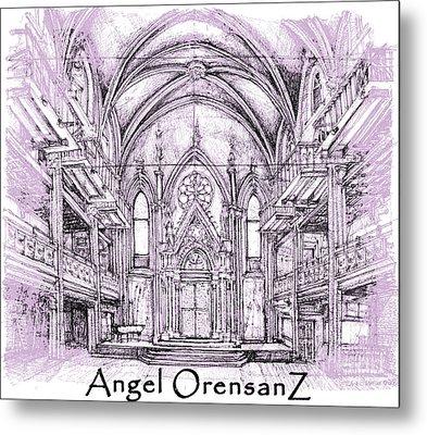 Angel Orensanz In Lilac  Metal Print by Building  Art