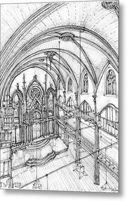 Angel Orensanz Sketch 3 Metal Print by Building  Art