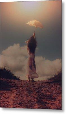 Angel With Parasol Metal Print by Joana Kruse