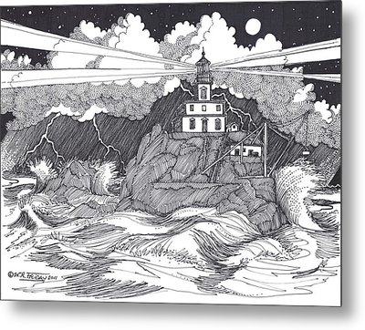 Angry Sea Metal Print by Bill Friday