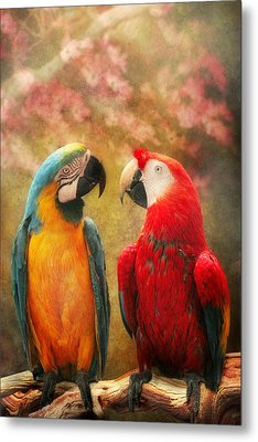 Animal - Parrot - We'll Always Have Parrots Metal Print by Mike Savad