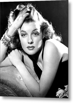 Ann Sheridan, Portrait Used Metal Print by Everett