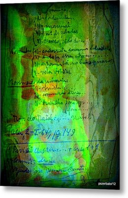 Annotations For A Life Metal Print by Paulo Zerbato