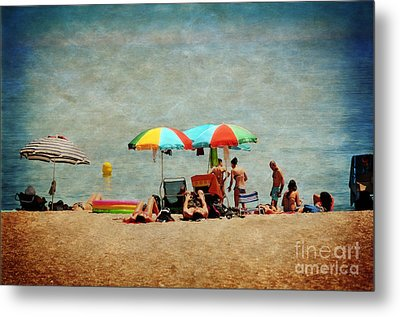 Another Day At The Beach Metal Print by Mary Machare
