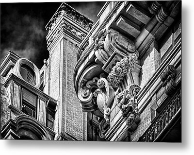 Ansonia Building Detail 41 Metal Print by Val Black Russian Tourchin