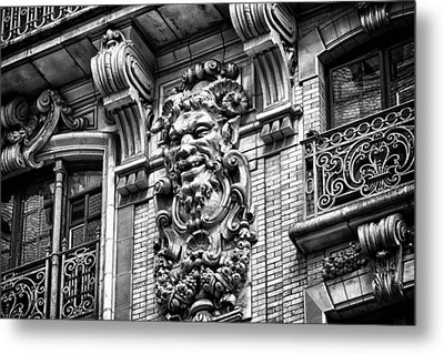 Ansonia Building Detail 44 Metal Print by Val Black Russian Tourchin