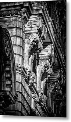 Ansonia Building Detail 7 Metal Print by Val Black Russian Tourchin