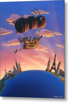 Ant Airship  Metal Print by Robin Moline