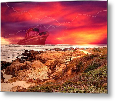 Anthony Boy Waiting Out The Storm Metal Print by Joyce Dickens
