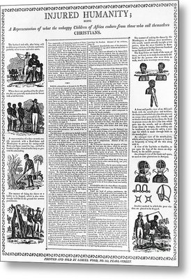 Anti-slavery Broadside Metal Print by Granger