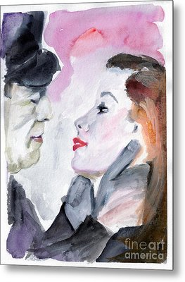 Anticipation Of A Kiss  Metal Print by Ginette Callaway
