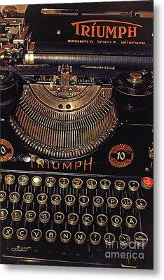 Antiquated Typewriter Metal Print by Jutta Maria Pusl