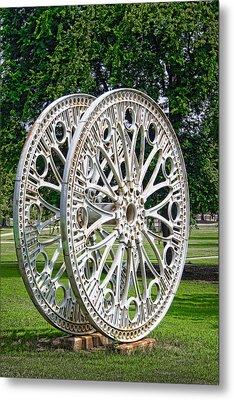 Antique Paddle Wheel University Of Alabama Birmingham Metal Print by Kathy Clark