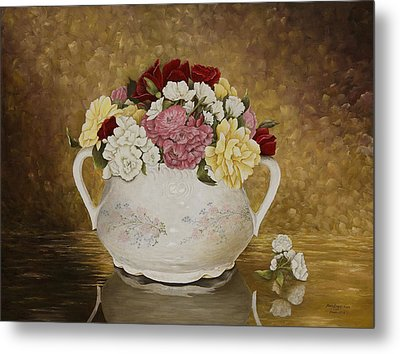 Antique Roses Metal Print by Mary Ann King