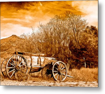 Antique Wagon Metal Print by Bob and Nadine Johnston